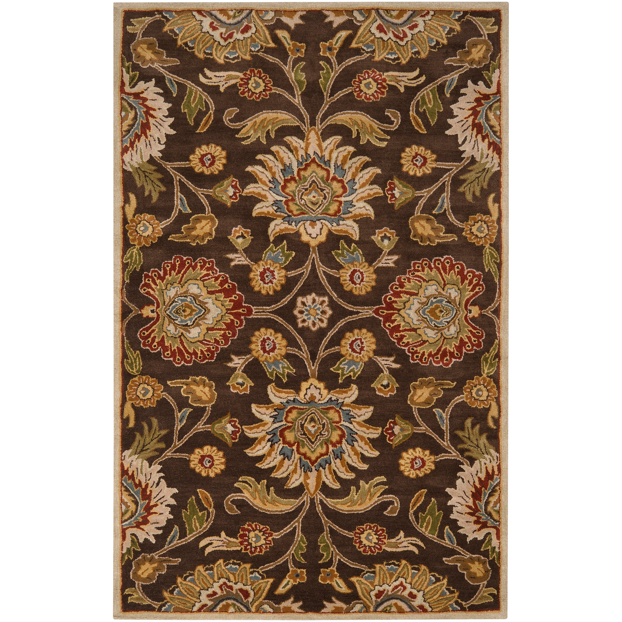 Hand-tufted Brown Amnicon Wool Rug (4' x 6')