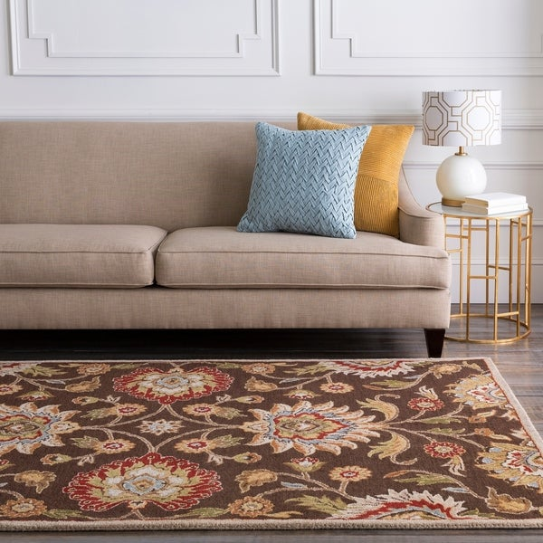Hand-tufted Brown Amnicon Wool Area Rug - 4' x 6'