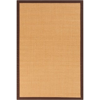 Woven Town Chocolate Sisal with Cotton Border Rug (4'x6')