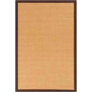 Woven Town Chocolate Sisal with Cotton Border Area Rug (4' x 6') (2 options available)