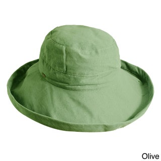 Scala Women's Cotton UPF-Protected Packable Sun Hat (Option: Olive)