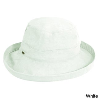 Scala Women's Cotton UPF-Protected Packable Sun Hat (Option: White)