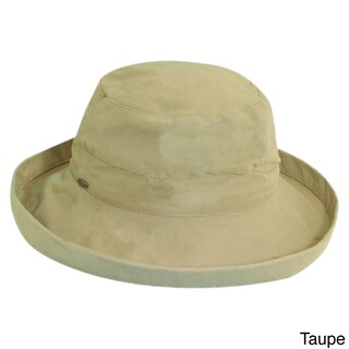 Scala Women's Cotton UPF-Protected Packable Sun Hat (Option: Taupe)