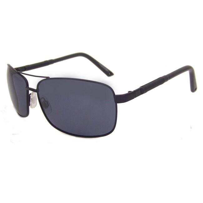 US Polo Association Men's Black Aviator Sunglasses