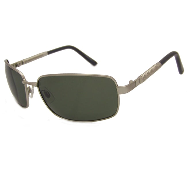US Polo Association Men's Silver Aviator Sunglasses
