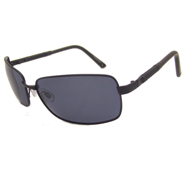 US Polo Association Men's Matte Black Aviator Sunglasses