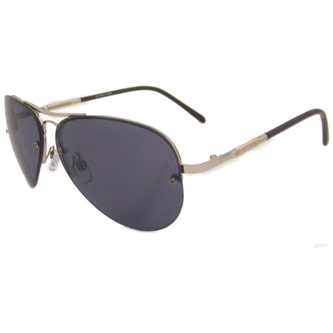 US Polo Association Mens 'Annapolis' Silver Metal Classic Aviator Sunglasses
