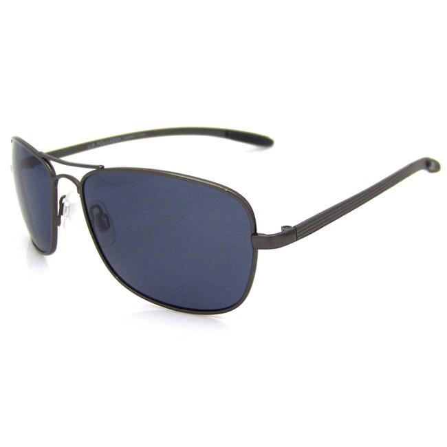 US Polo Association Mens 'Accomplice' Grey / Smoke Square Aviator Sunglasses