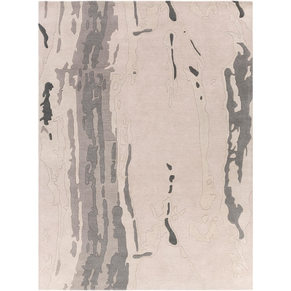 Hand-tufted Gray Westminister Abstract Plush Wool Area Rug - 8' x 11'