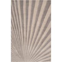 Hand-tufted Gray Notre Geometric Wool Area Rug - 3'3 x 5'3