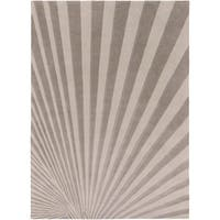 Hand-tufted Gray Notre Geometric Wool Area Rug - 8' x 11'