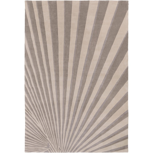 Hand-tufted Gray Notre Geometric Wool Area Rug - 9' x 13'