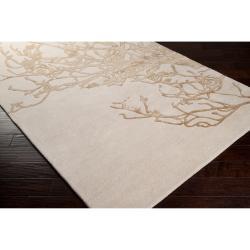 Hand-tufted Beige Vatican BoBeigeical Rug (3'3 x 5'3)