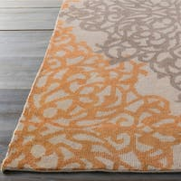 Hand-knotted Grey Angkor New Zealand Wool Area Rug - 5'6 x 8'6