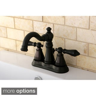 Transitional Double-handle Oil Rubbed Bronze Bathroom Faucet