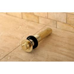 Vessel Sink Polished Brass 'Lift and Turn' Drain without Overflow - Thumbnail 0