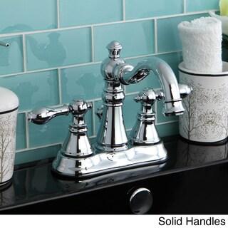 Transitional Double-handle Chrome Bathroom Faucet
