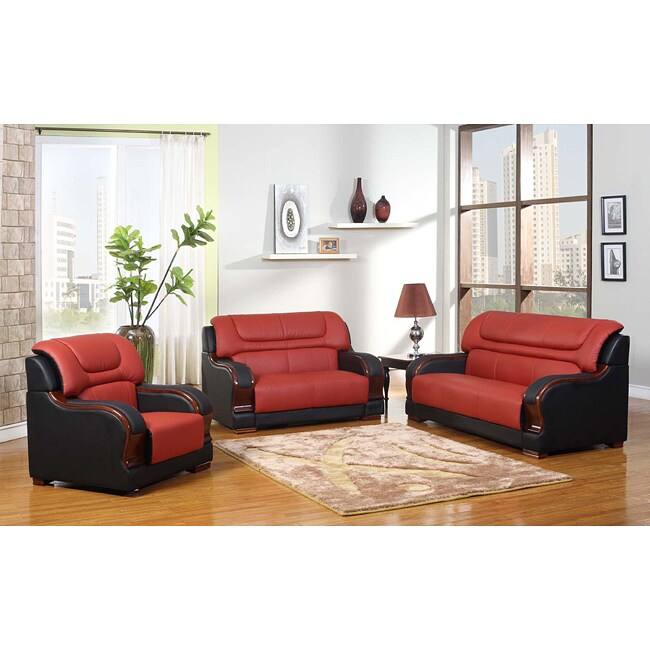 Madison Genuine Leather Sofa Set - Thumbnail 0