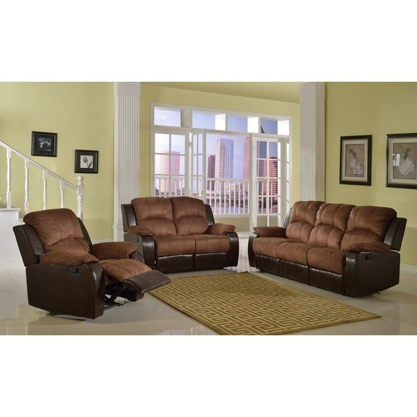 Recliner Sofa Sets: Shop Pamela Two-Tone Reclining Sofa Set