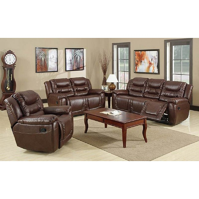 Samson Brown Reclining Sofa Set