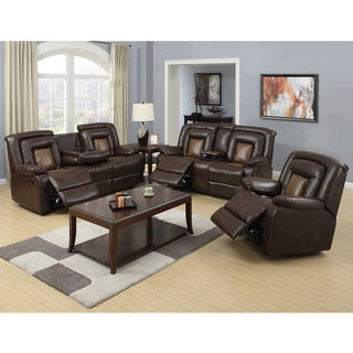 Capson Brown Reclining Sofa Set