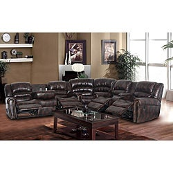 Maypal Brown Reclining Sectional Set