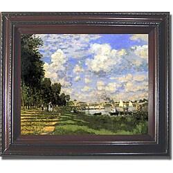 Claude Monet 'Bassin d'Argenteuil' Framed Canvas Art
