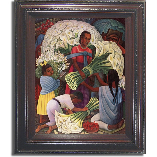 Shop Diego Rivera Flower Vendor Framed Canvas Art On