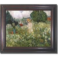 Vincent Van Gogh 'Mademoiselle Gachet in her Garden' Framed Canvas Art
