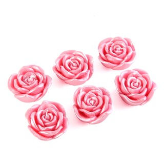 3-inch Rose Floating Candles (Box of 12) (Option: Red)