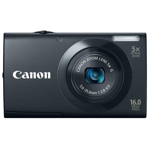 Canon PowerShot A3400IS 16MP Black Digital Camera