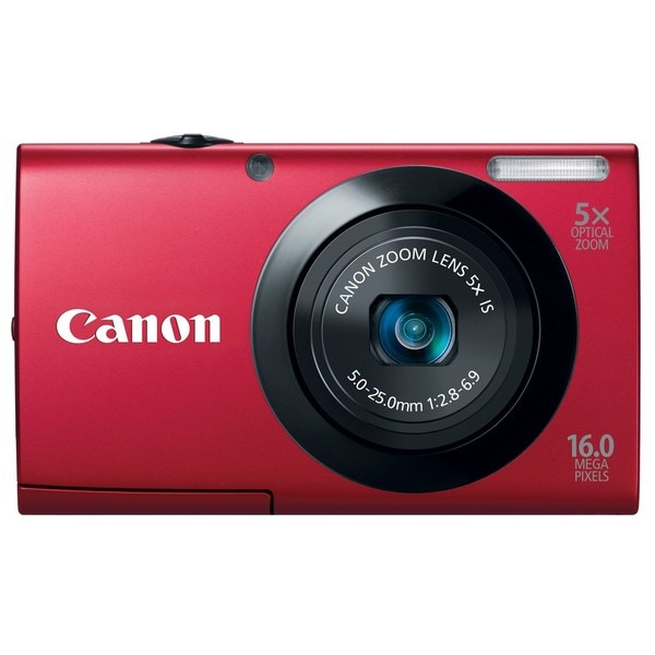 Canon Powershot A3400IS 16MP Red Digital Camera