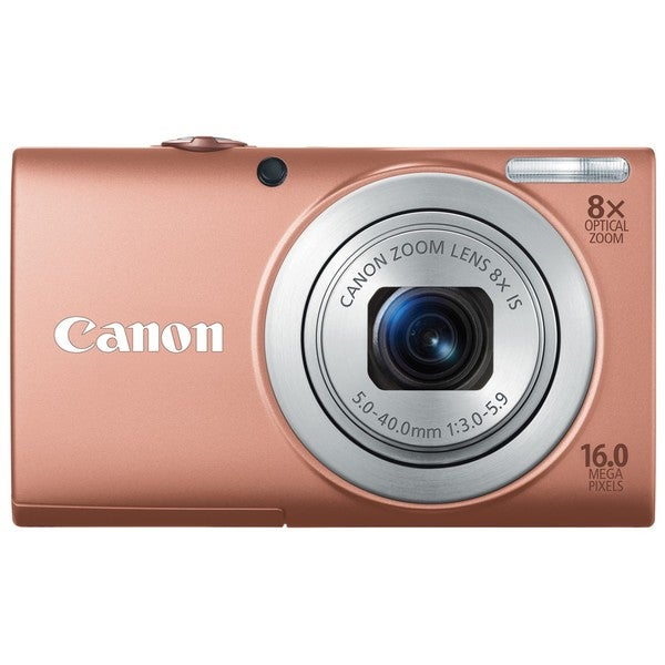 Canon PowerShot A4000IS 16MP Pink Digital Camera