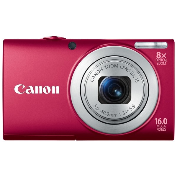 Canon PowerShot A4000IS 16MP Red Digital Camera