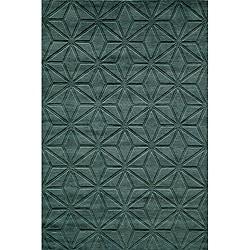 Loft Blue Dimensions Hand-Loomed Wool Rug (8' x 11')