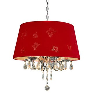 Trans Globe Lighting 3-light Butterfly Shade Crystal Pendant
