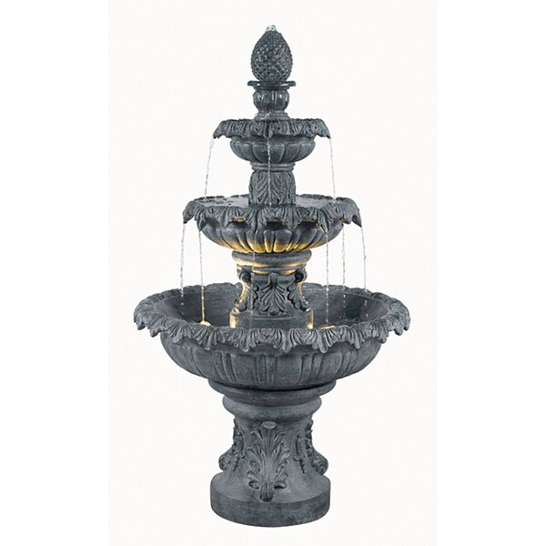 Enki Outdoor 3-Tier Floor Fountain