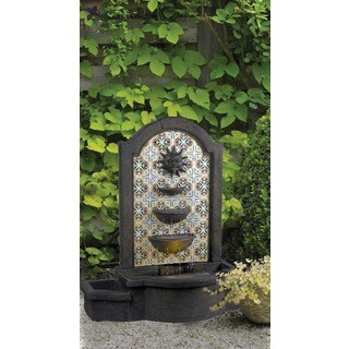 Nerites 45-inch High With Madrid Finish Outdoor Floor Fountain