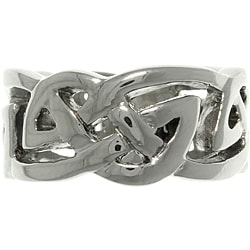 Carolina Glamour Collection Stainless Steel Celtic Infinity Knot Ring
