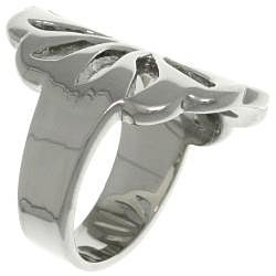 Carolina Glamour Collection Stainless Steel Cut-out Flower Shaped Ring - Thumbnail 1
