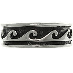 Carolina Glamour Collection Stainless Steel Two-tone Celtic Tidal Wave Ring