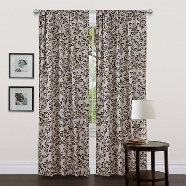 Lush Decor Blue 84-inch Ventura Curtain Panel