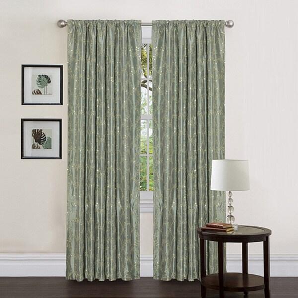 Lush Decor Sea Green 84-inch Angelica Curtain Panel