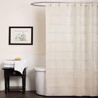 Lush Decor La Sposa Beige Shower Curtain
