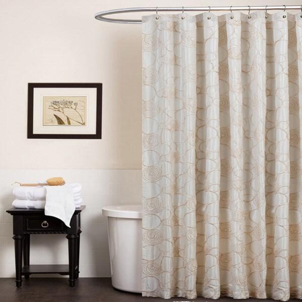 Lush Decor Circle Charm Beige Shower Curtain