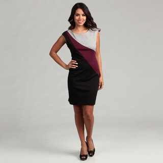Connected Apparel Women's Berry Colorblock Dress