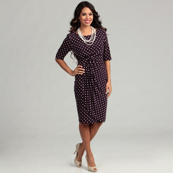 Connected Apparel Women's Polka Dot Dress