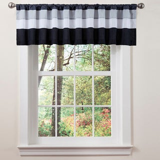 Lush Decor White/ Black Iman Valance - 18 x 84