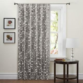 Lush Decor Grey 84-inch Lilian Curtain Panel
