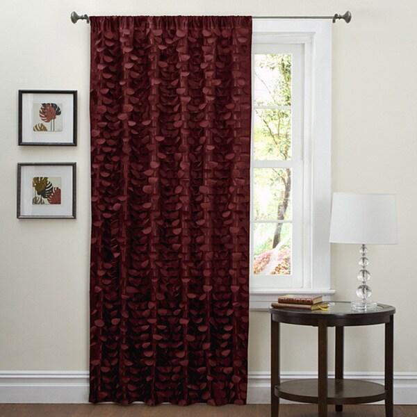 Lush Decor Red 84-inch Lilian Curtain Panel